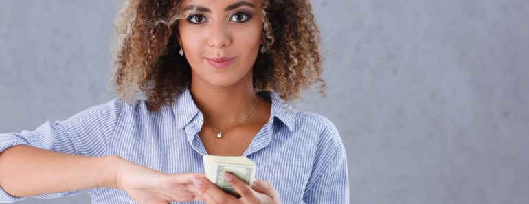 buying a home woman with money