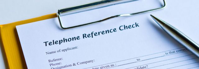 Telephone reference checklist