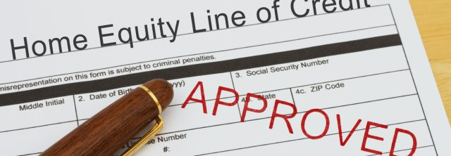 approved home equity line of credit application