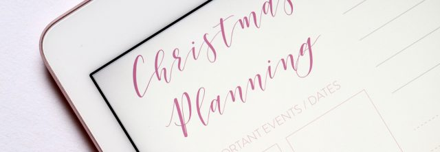 Christmas planning ap on a phone